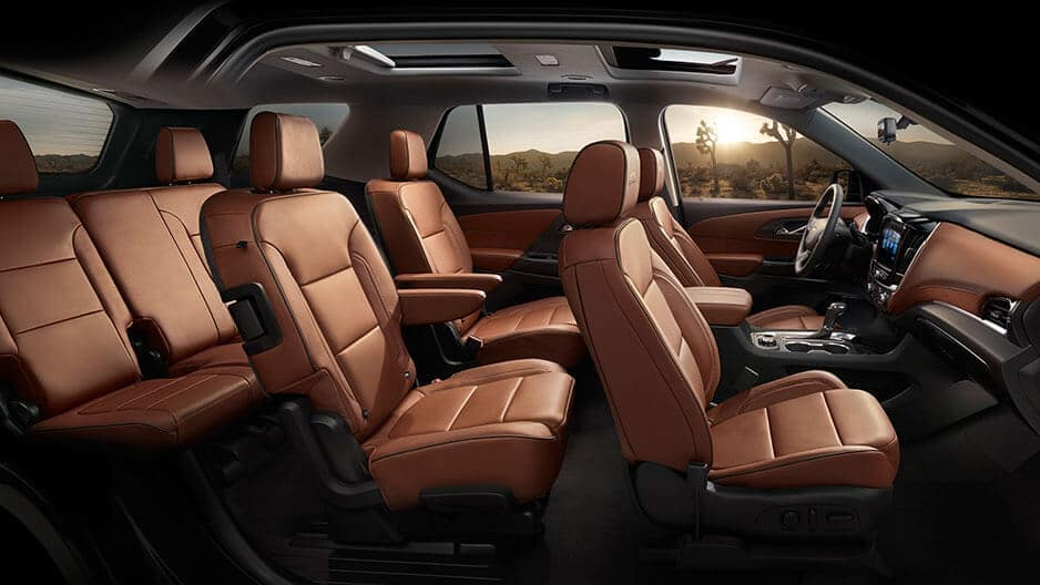 Interior Features of the New Chevrolet Traverse at Garber in Midland, MI