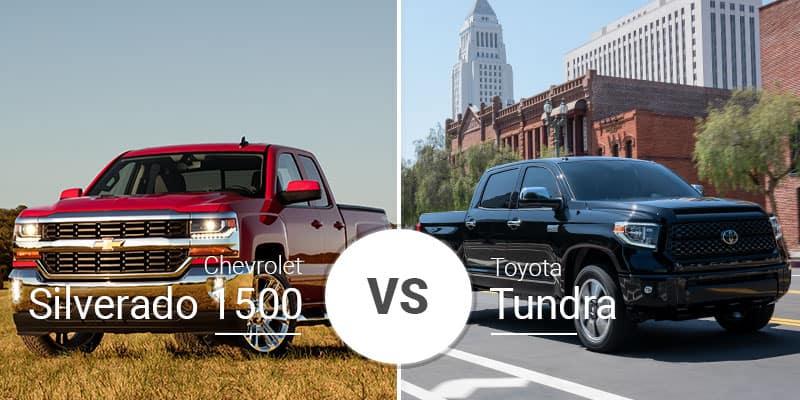 Chevy Silverado 1500 Vs  Toyota Tundra: Legend Tackles Newcomer
