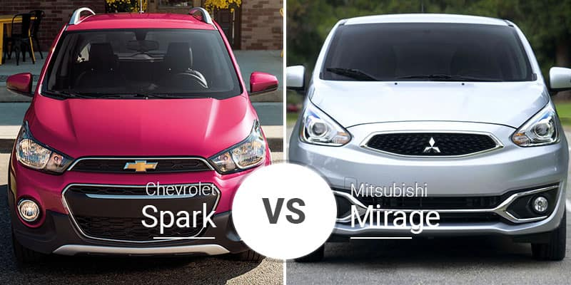 Chevy Spark Vs  Mitsubishi Mirage: Little Hatches Go a Long Way