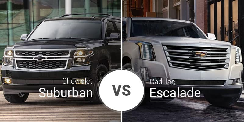 Chevy Suburban Vs Cadillac Escalade Full Size Suv Comparison