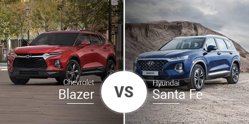 Santa Fe Chevrolet >> Chevy Blazer Vs Hyundai Santa Fe Garber Chevrolet