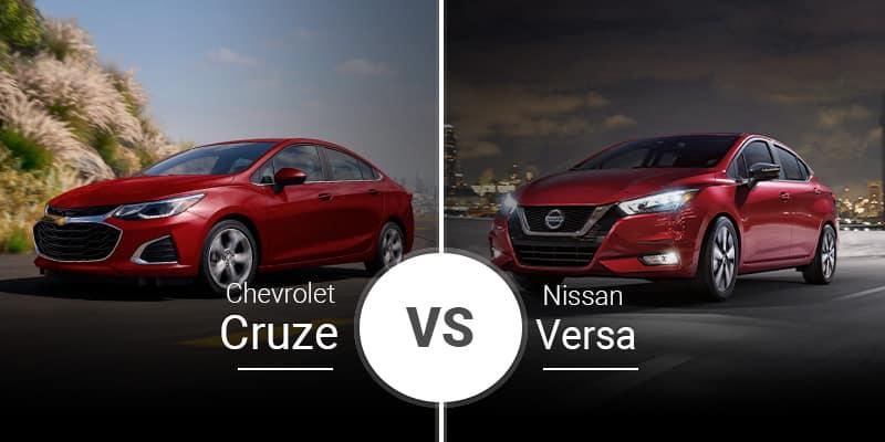 model comparison all Cruze vs Versa
