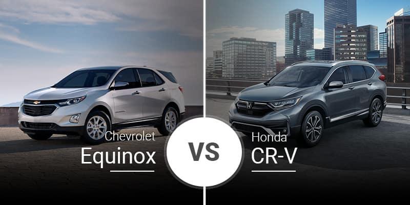 model comparison all Equinox vs CR V