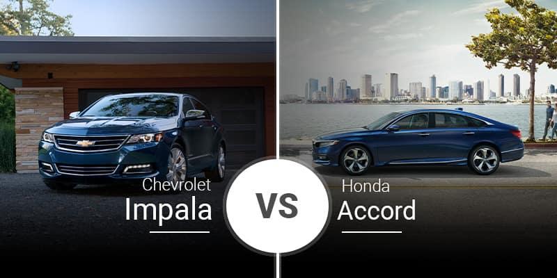 model comparison all Impala vs Accord