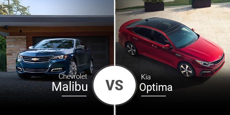 model comparison all Malibu vs Optima
