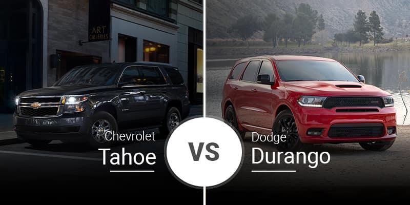 model comparison all Tahoe vs Durango