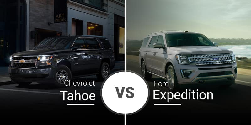 model comparison all Tahoe vs Expedition