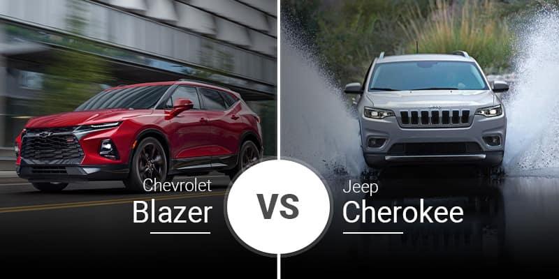 model comparison all blazer vs cherokee