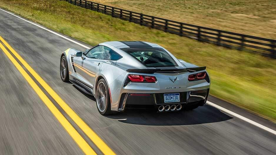 Exterior Features of the New Chevrolet Corvette at Garber in Midland, MI