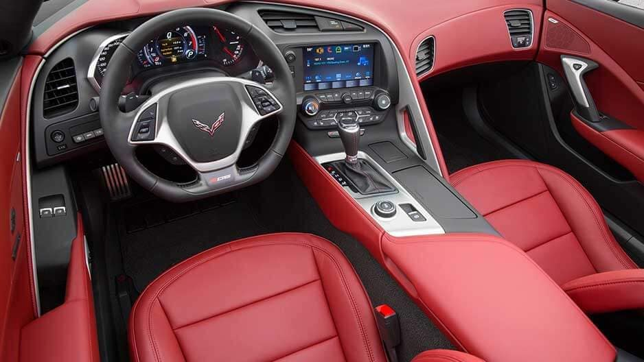 Interior Features of the New Chevrolet Corvette at Garber in Midland, MI