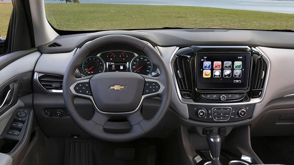 Technology Features of the New Chevrolet Traverse at Garber in Midland, MI
