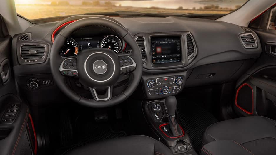 Interior Features of the New Jeep Compass at Garber in Saginaw, MI