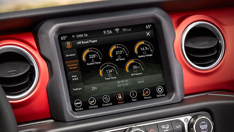 Technology Features of the New Jeep Gladiator at Garber in Saginaw, MI