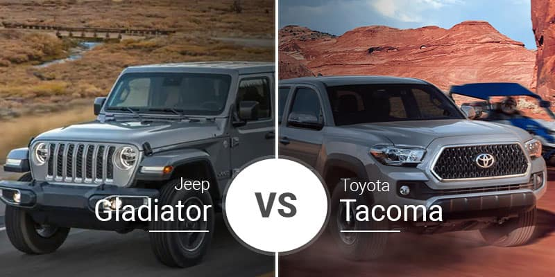 jeep gladiator vs toyota tacoma the new face of midsize pickups. Black Bedroom Furniture Sets. Home Design Ideas