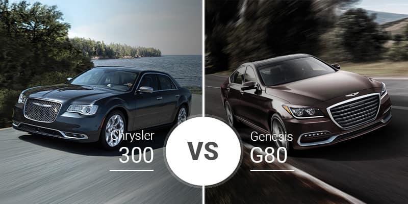 Chrysler 300 Vs. Genesis G80 on