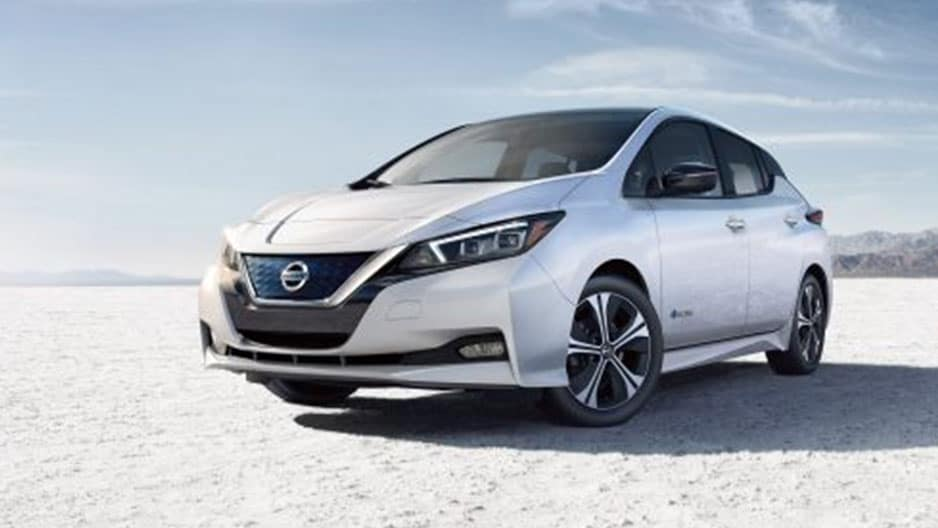 Exterior Features of the New Nissan Leaf at Garber in Saginaw, MI