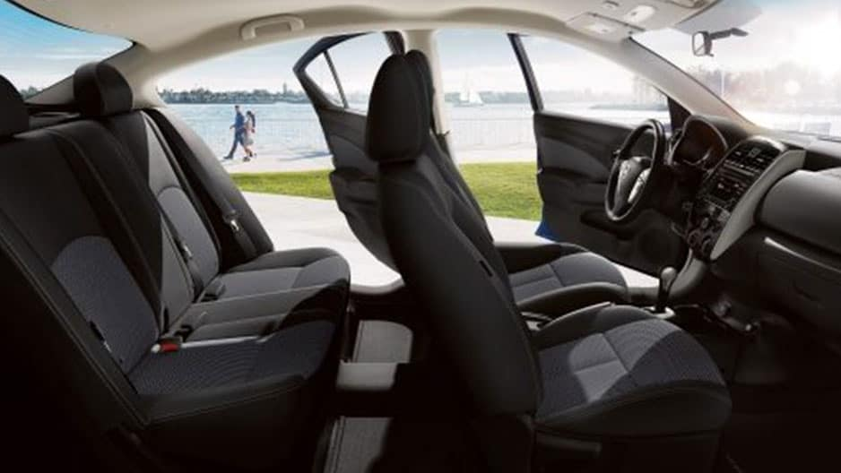 Interior Features of the New Nissan Versa Sedan at Garber in Saginaw, MI