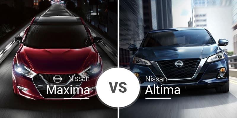 Nissan Maxima Vs Nissan Altima Cross Showroom Showdown