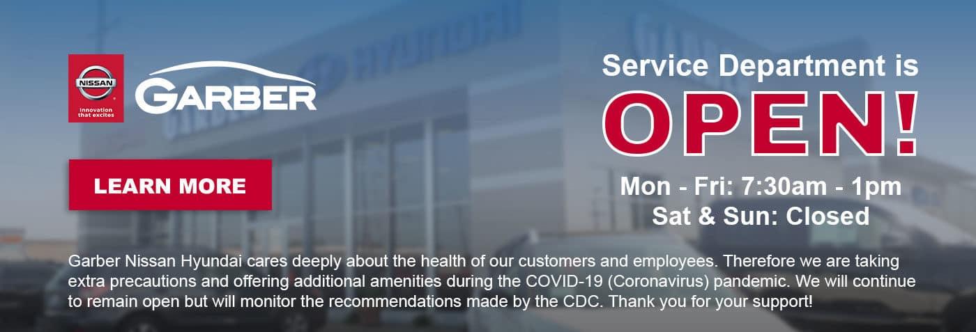 Service-Sales-Home-Banner-Garber-Nissan-Service-Hours-Update-4.1.20
