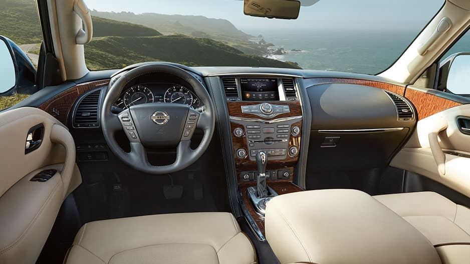 Interior Features of the New Nissan Armada at Garber in Saginaw, MI