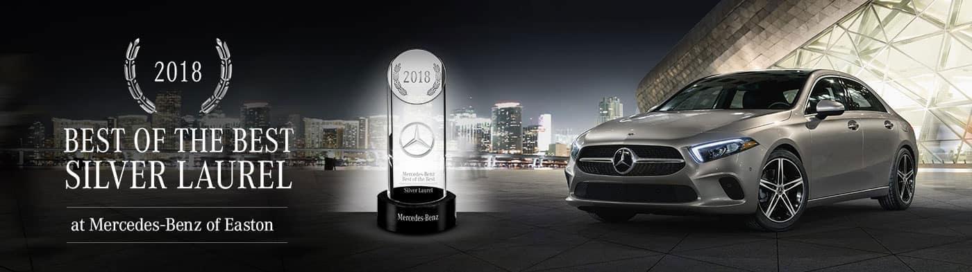 Mercedes-Benz of Easton - 2018 Best of the Best – Silver Laurel Award Winner
