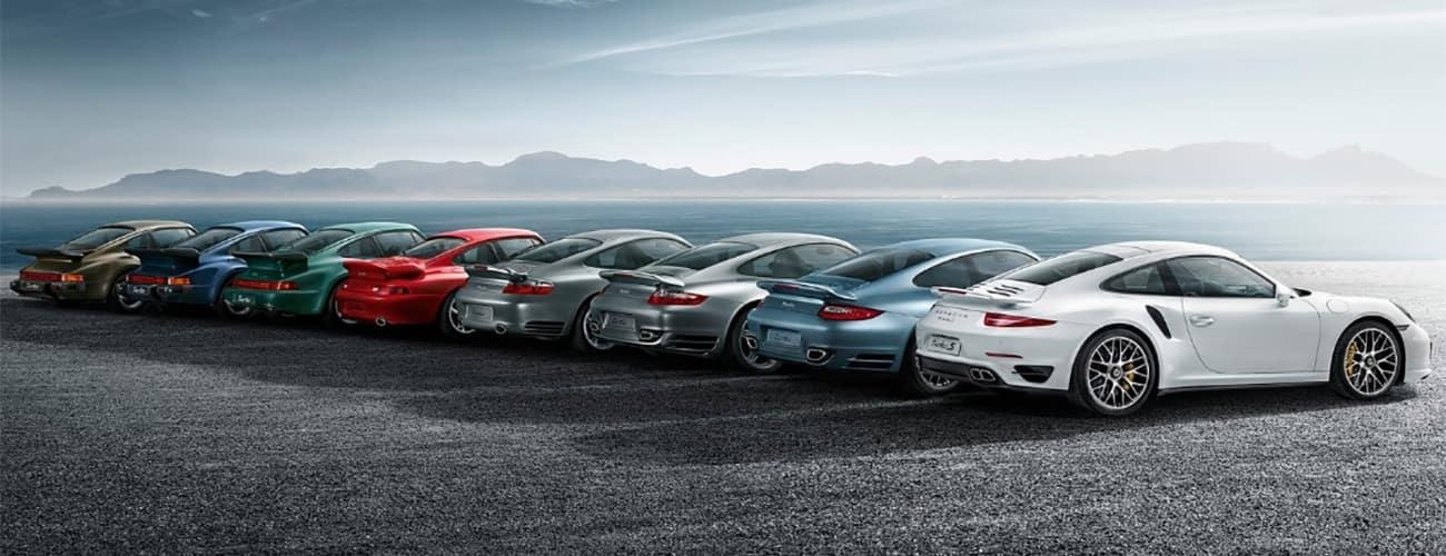 Porsche 911 Generation Colors