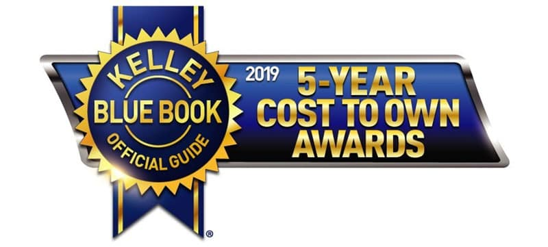 2019 Kelley Blue Book 5-Year Cost to Own Awards Luxury Midsize Category
