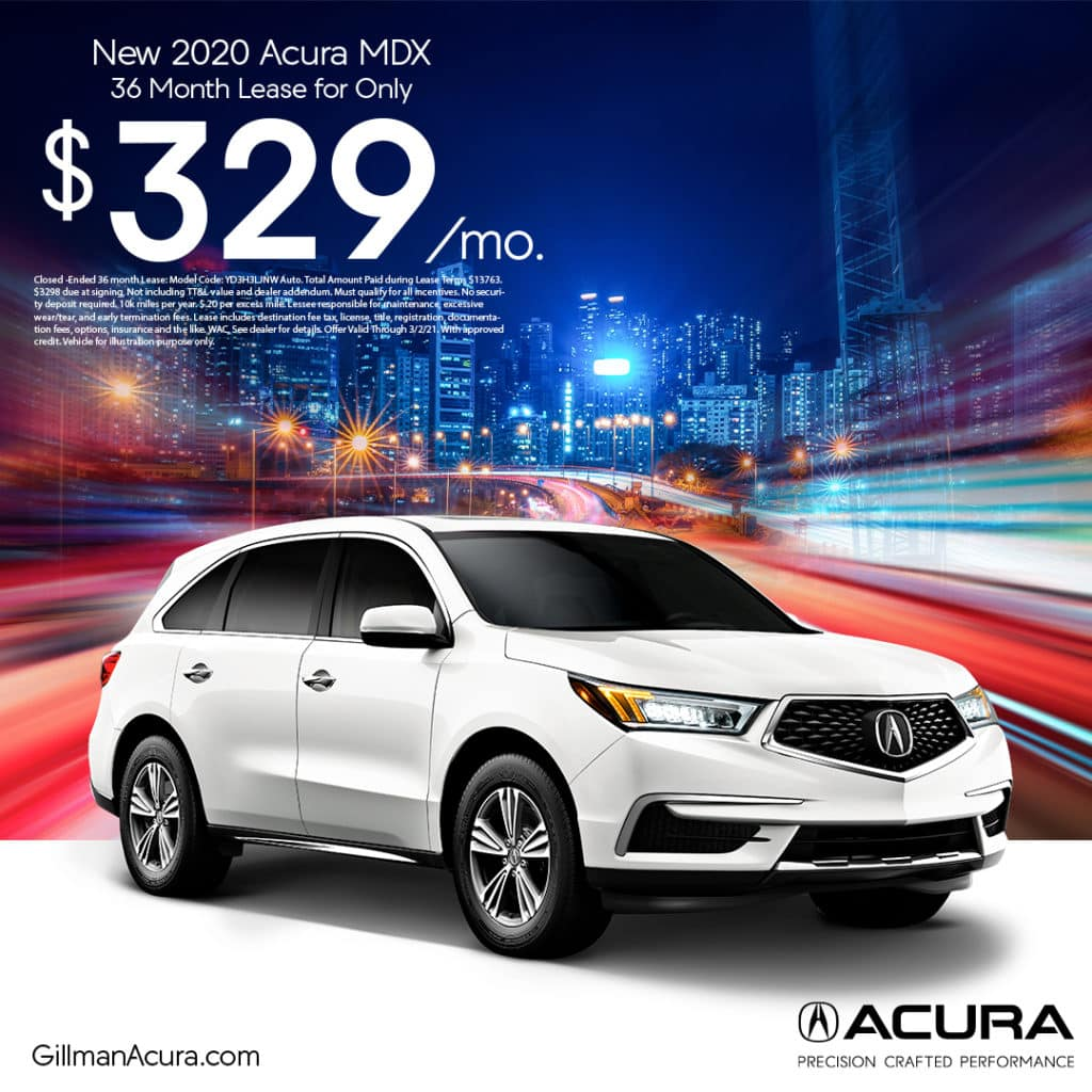 Lease the 2020 MDX for $329/Month