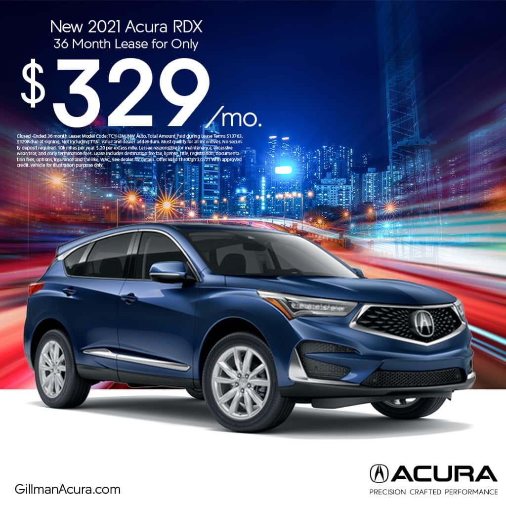 Lease the 2021 RDX for $329/Month