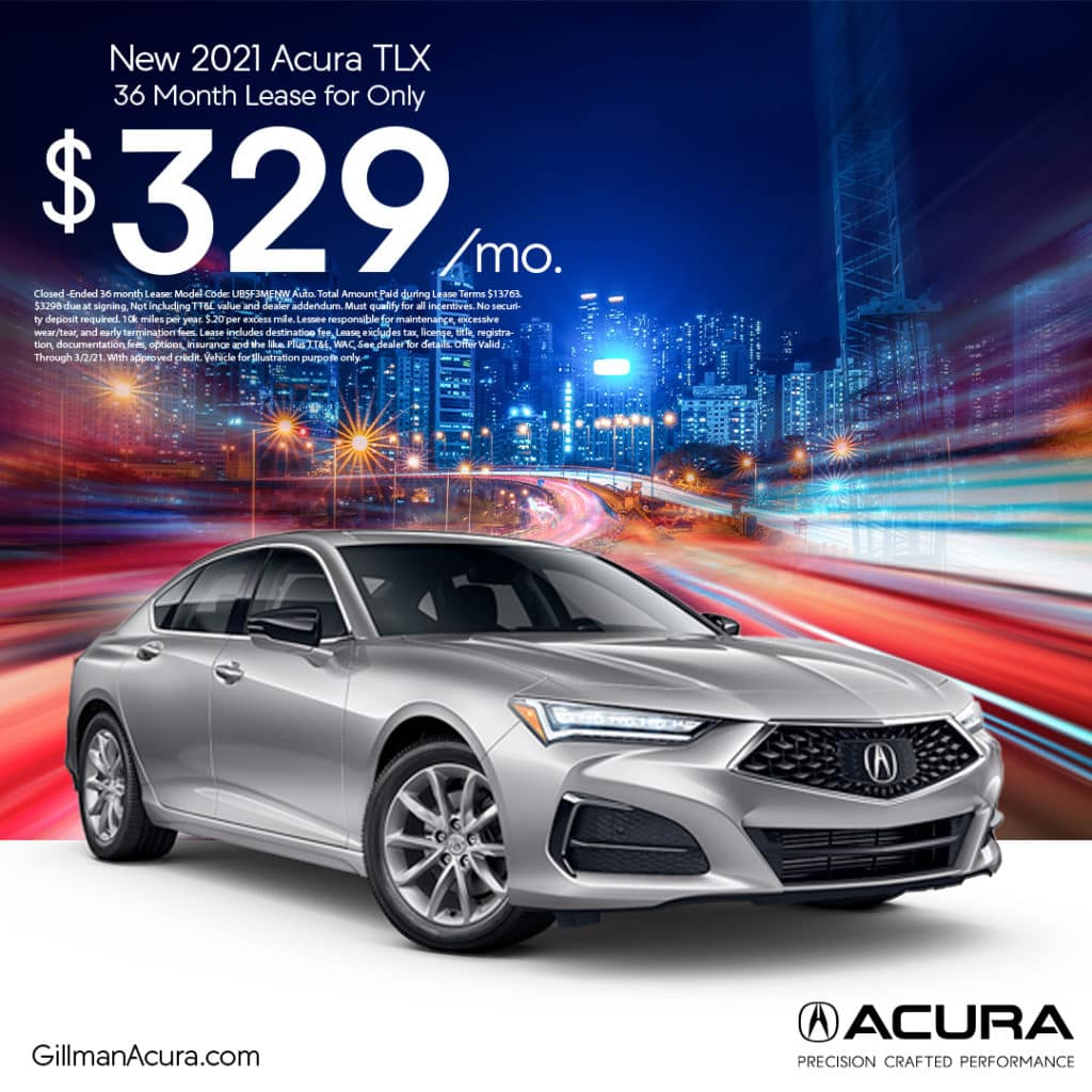 Lease the 2021 TLX for $329/Month