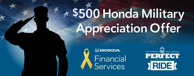 Hampton Roads Honda Military Appreciation Offer