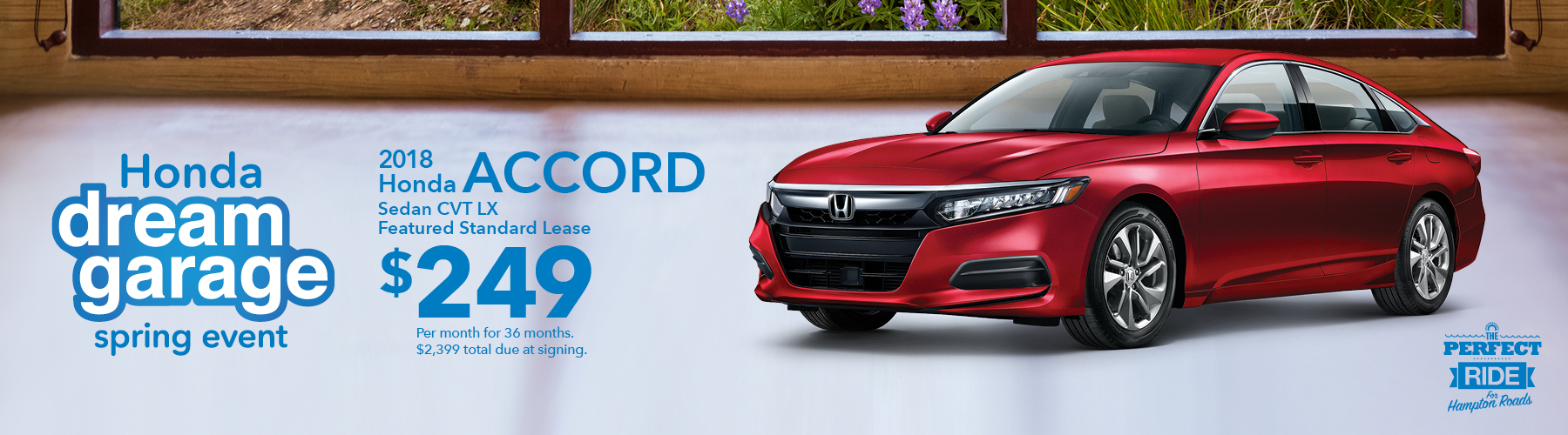 Hampton Roads Honda Dream Garage 2018 Accord Lease Offer