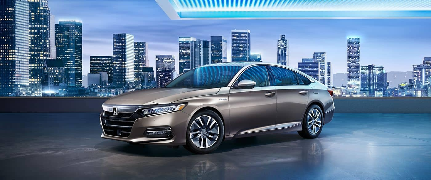 2018 Honda Accord Hybrid with a city background