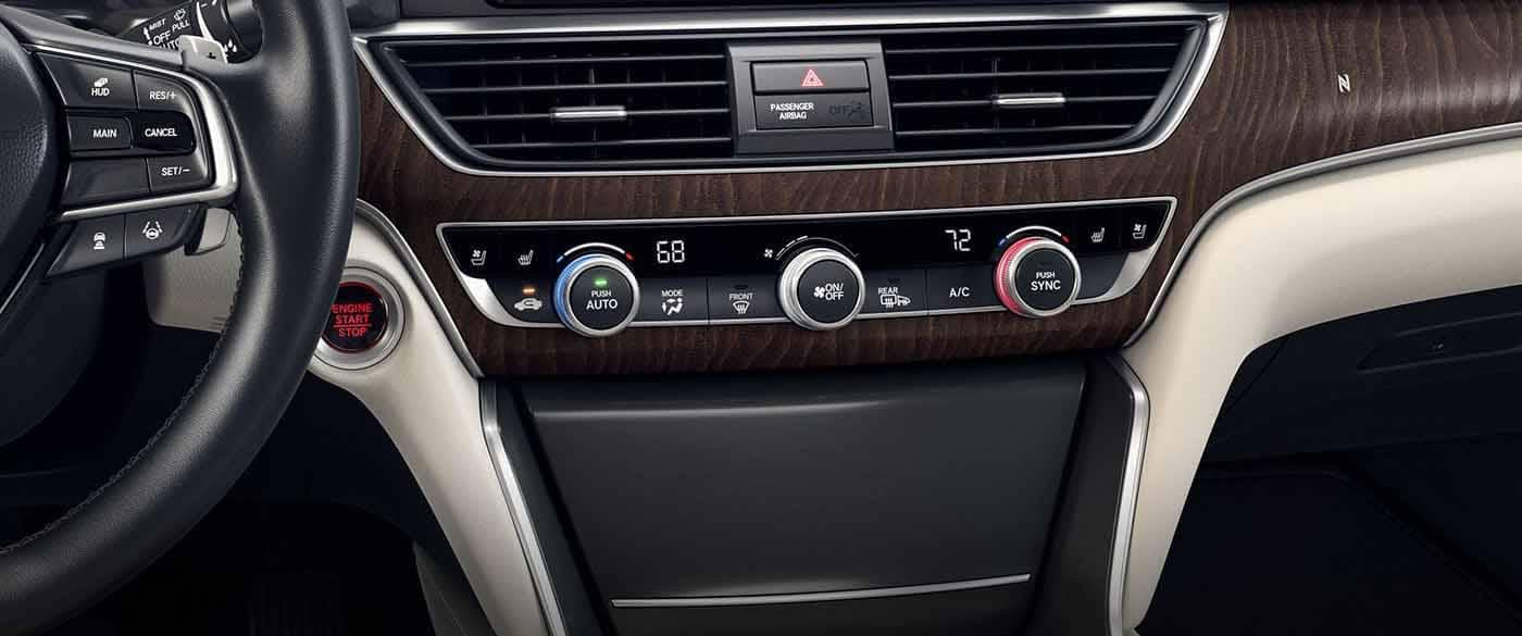 2018 Honda Accord Sedan Automatic Climate Controls on the dashboard