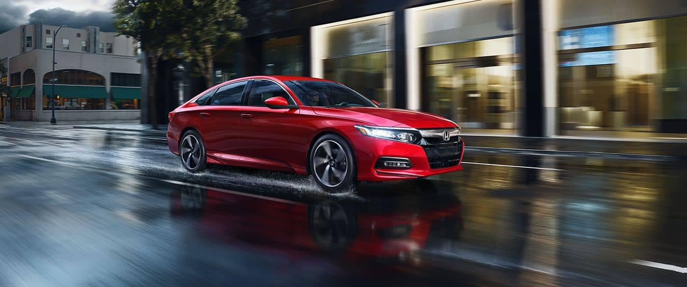 2018 Honda Accord Sedan driving on wet road