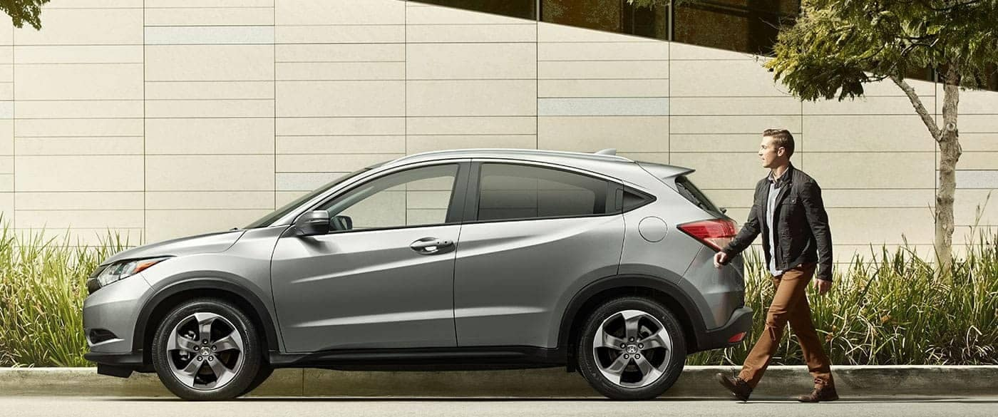 Man walking to 2018 Honda HR-V