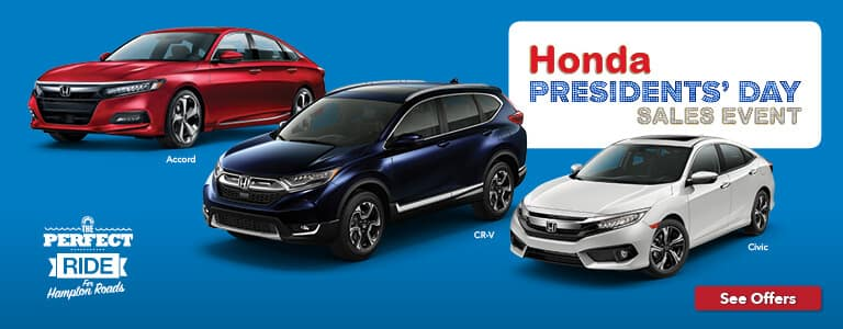Hampton Roads Honda Presidents' Day Sales Event