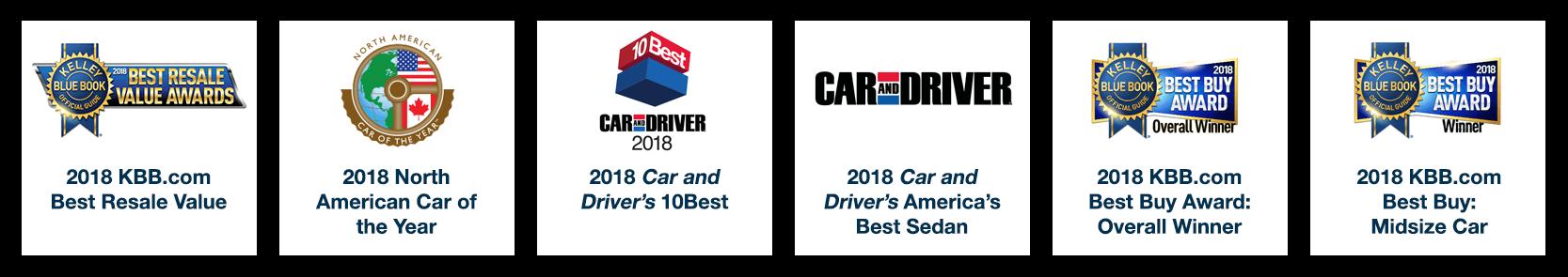 2018 Honda Accord Awards