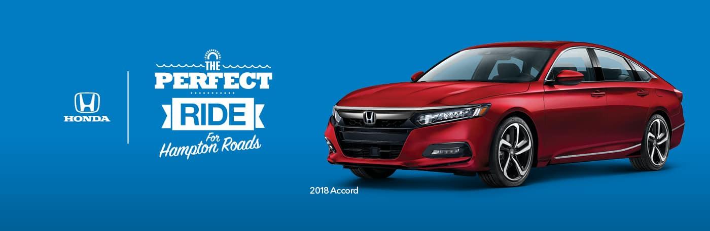 Hampton Roads Honda Dealers Perfect Ride 2018 Accord Sedan