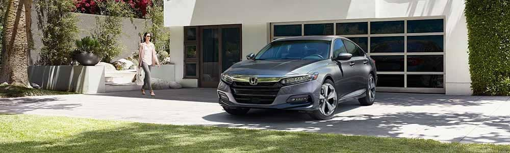 2018 Honda Accord Parked Outside a Home