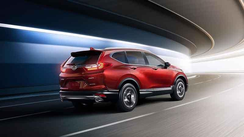 2018 Honda CR-V driving in a tunnel