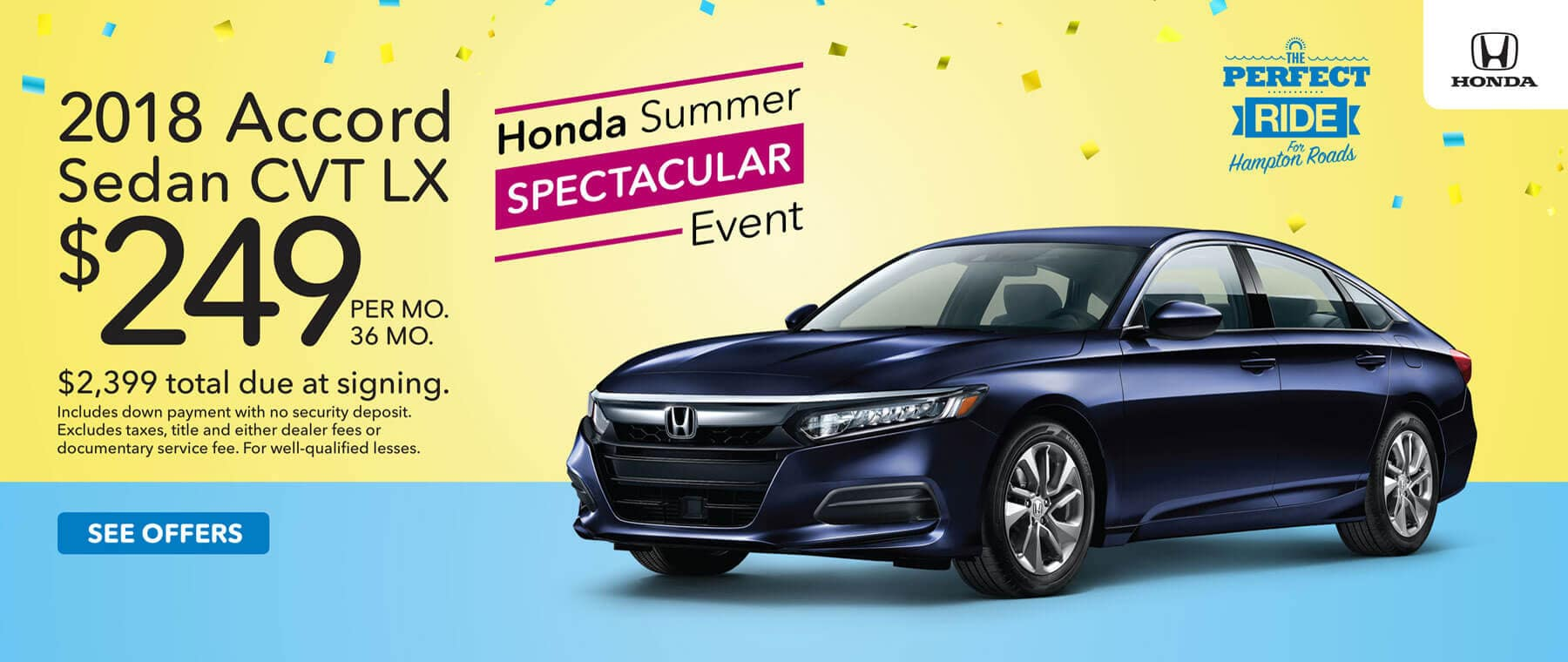 Honda Summer Spectacular Event 2018 Accord Lease Offer