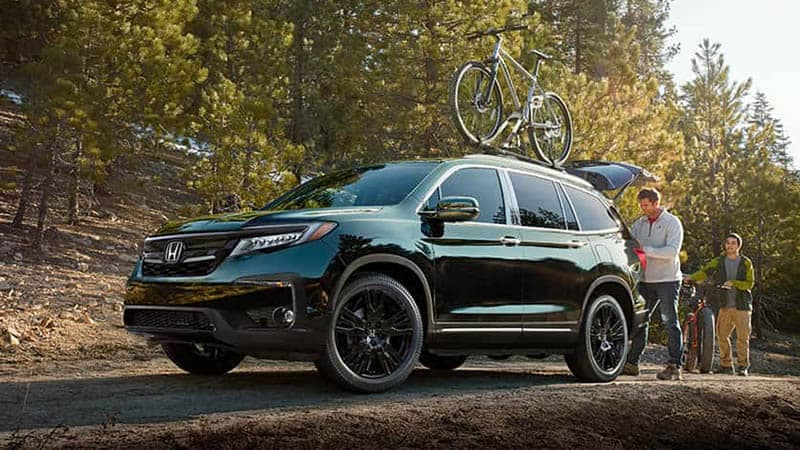 2019 Honda Pilot On Bike Trail