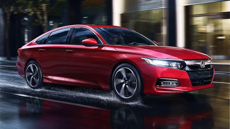 2019 Honda Accord Sedan Driving on Wet Road