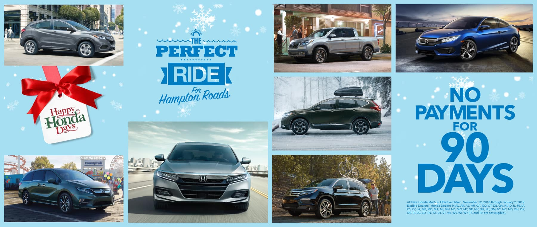 Hampton Roads Honda Dealers Happy Honda Days 90-Day Deferment