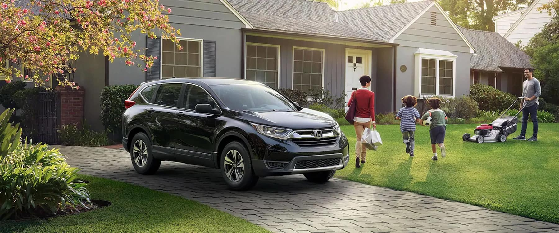 2019 Honda CR-V Parked Outside Home Banner