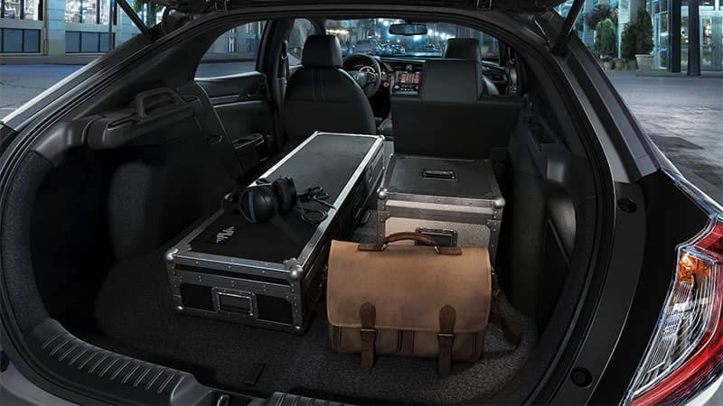 2019 Honda Civic Hatchback Cargo Area with Seats Folded Down