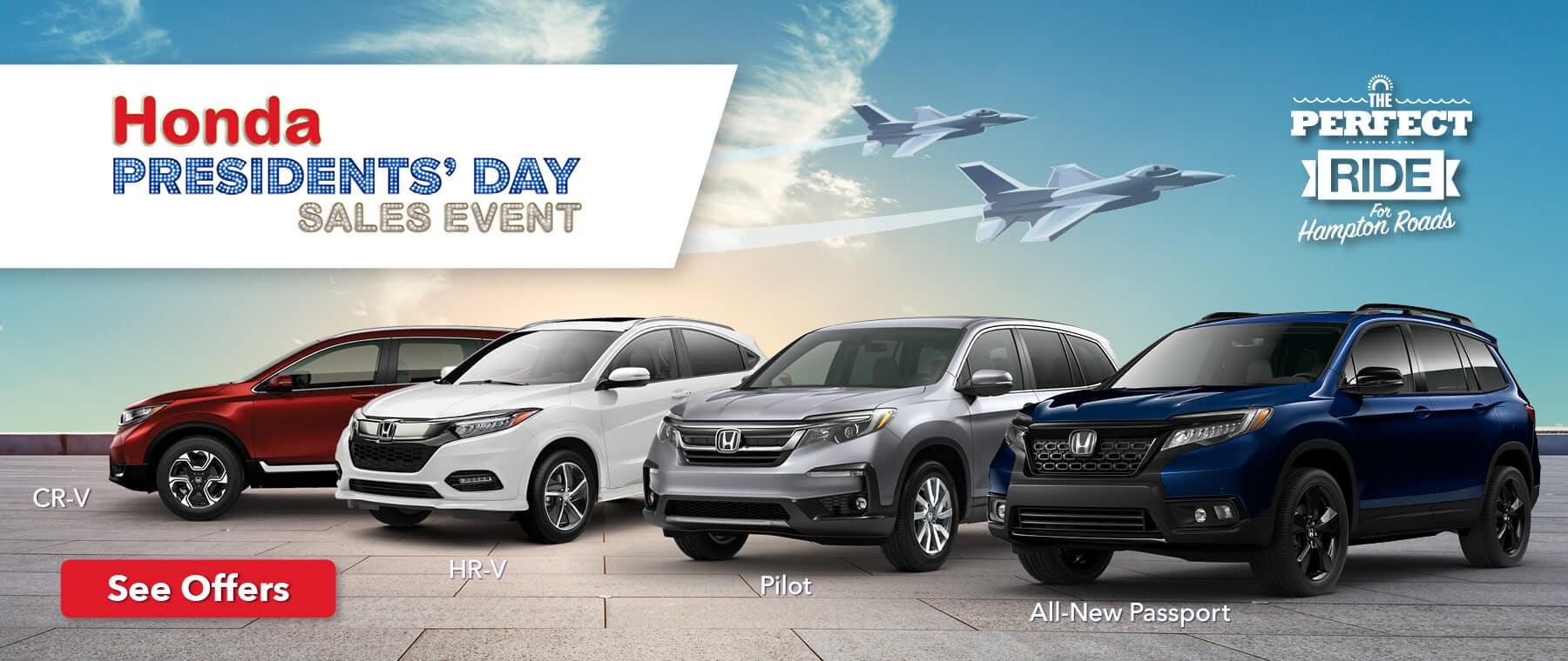 Hampton Roads Honda Presidents' Day Sales Event