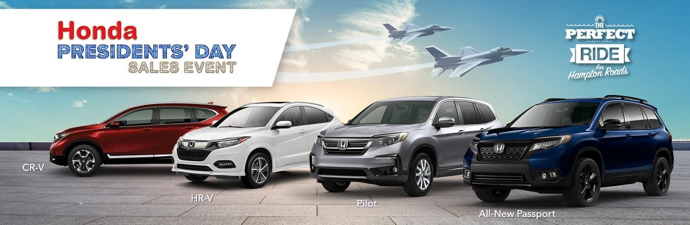 Hampton Roads Honda Presidents' Day Sales Event Banner