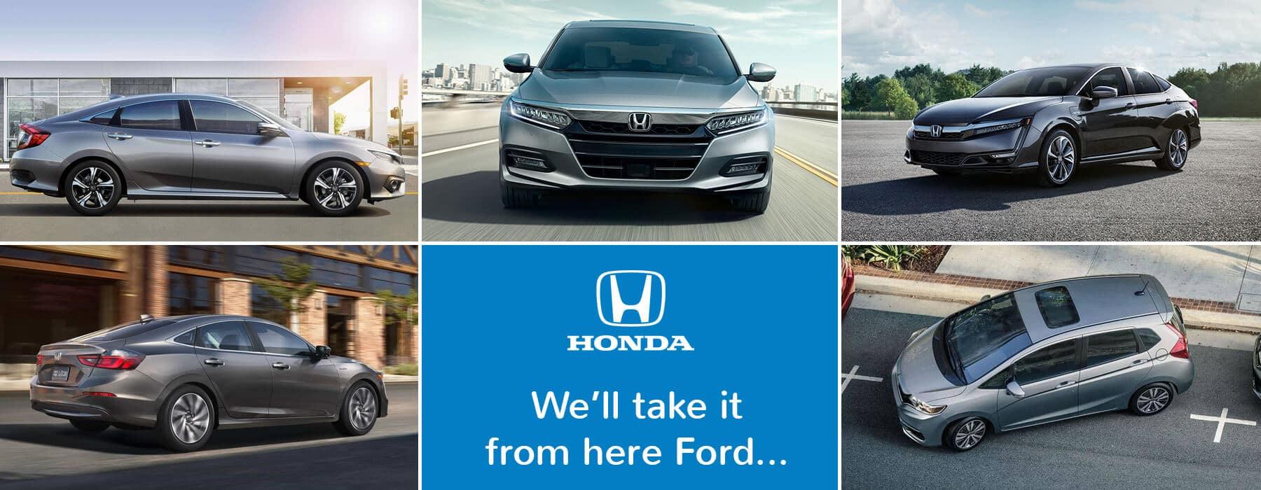 Honda Car Lineup Banner